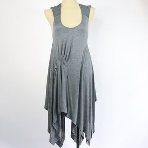 NWT BCBGMAXAZRIA Asymmetrical Racerback Dress -Q29